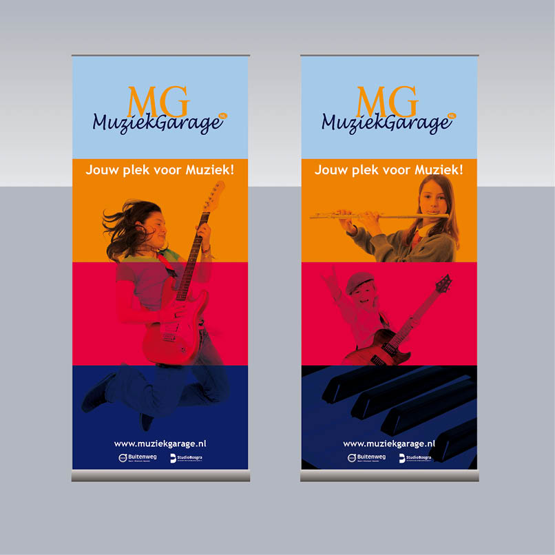 roll-up banner Muziekgarage