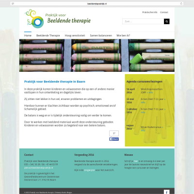 website Beeldende Therapie